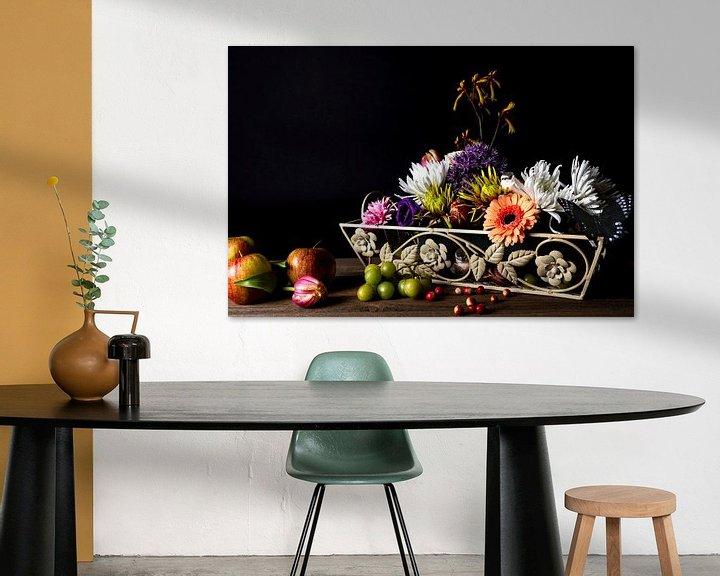 Sfeerimpressie: Bloemen en fruit van Anita Visschers