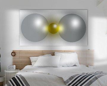 Abstract Gold and Silver van Brian Morgan