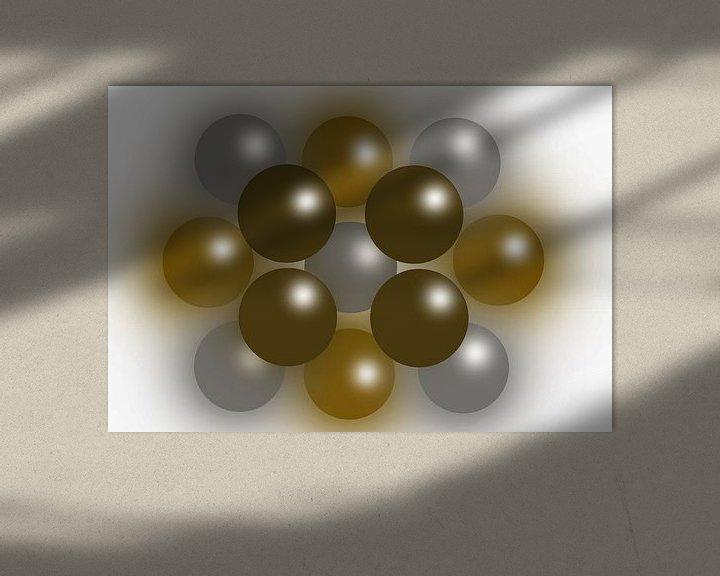 Sfeerimpressie: Abstract The color of wealth van Brian Morgan