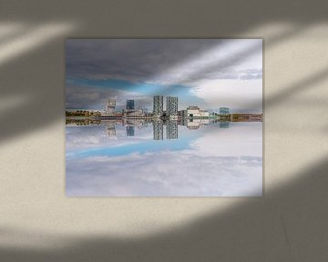 Almere  Stad skyline reflected in the water