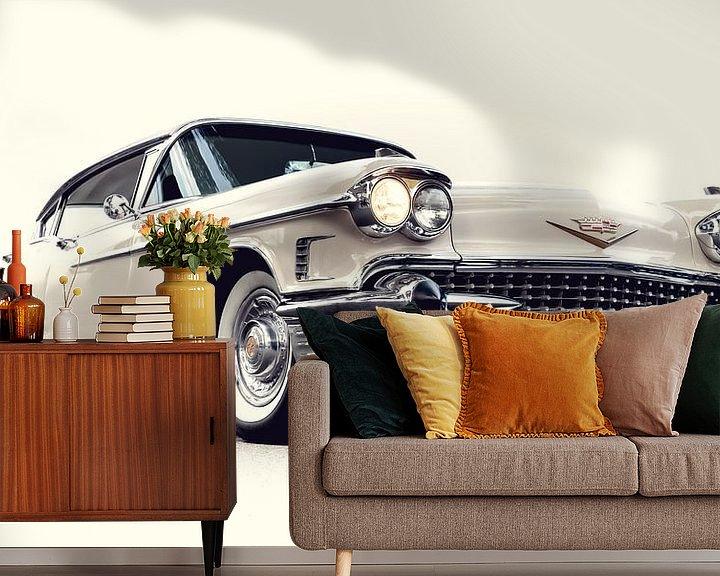 Sfeerimpressie behang: CADILLAC FLEETWOOD SIXTY SPECIAL ,1958 van marco de Jonge