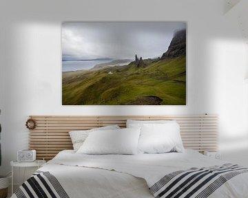 Der alte Mann von Storr auf der Isle of Skye von Peter Haastrecht, van