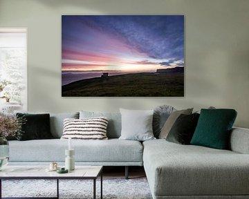 Sonnenuntergang am Neist point Schottland von Peter Haastrecht, van