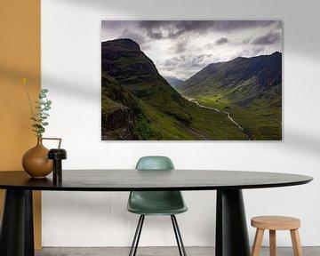 Blick auf das Glencoe Vally auf der Insel Skye von Peter Haastrecht, van