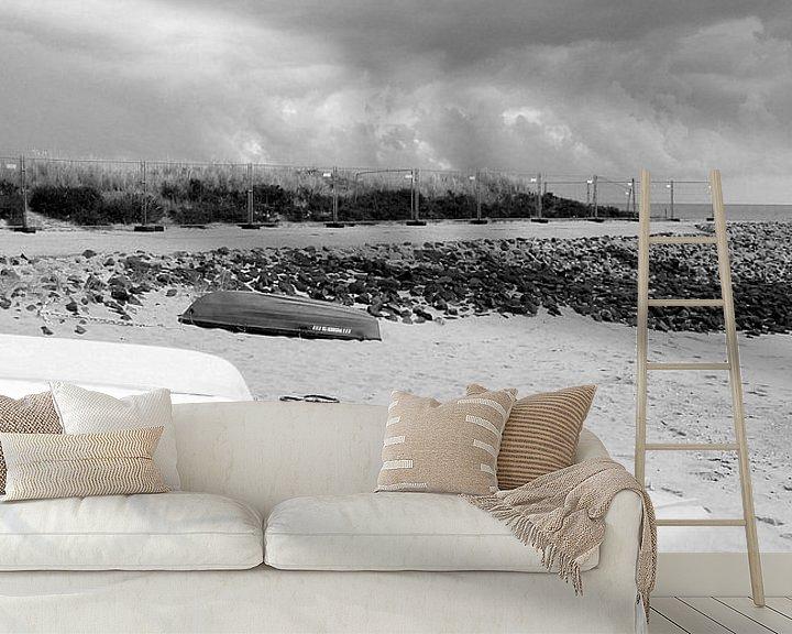 Sfeerimpressie behang: Slaapboten Deel 1 of Geel ergens van Pia Schneider