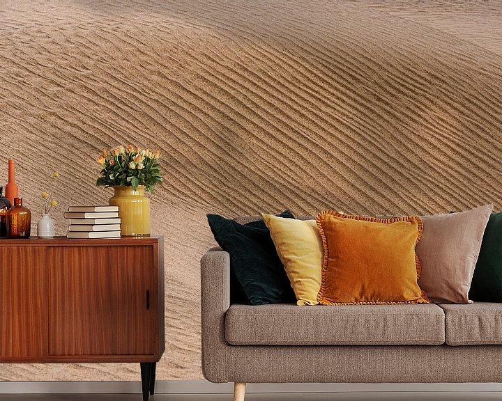 Sfeerimpressie behang: Abstract beeld van een zandduin in de woestijn | Iran van Photolovers reisfotografie