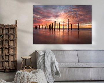 Sonnenuntergang an der Küste von Simon Bregman