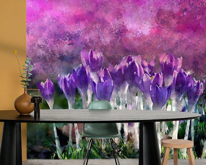 Sfeerimpressie behang: Krokus van Andreas Wemmje