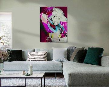 Collage Bardot rosa von Joost Hogervorst