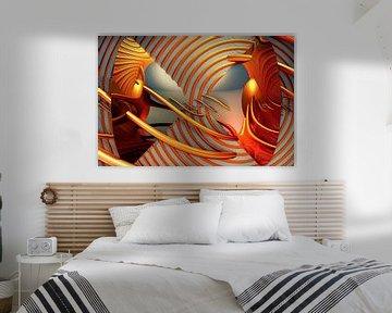 Abstrakte Kunst mit Fraktalen von W J Kok