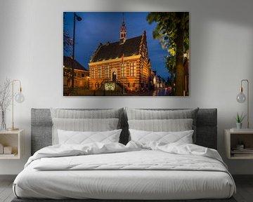 Historisch Stadhuis IJsselstein bij avond van Tony Buijse
