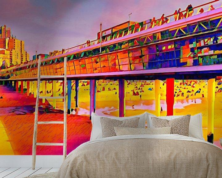 Beispiel fototapete: Pier von Scheveningen von Digital Art Nederland