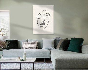 Porträt/Linienzeichnung von Color Square