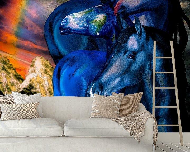 Beispiel fototapete: Turm der blauen Pferde von Ansgar Peter