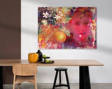 Das Mädchen mit dem Orangenbaumzweig von christine b-b müller