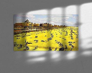 Strand van Scheveningen van Digital Art Nederland