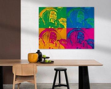 Bob Marley Pop-Art von Christian Carrette