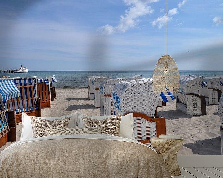 Beispiel fototapete: Strandkörbe in Binz, Rügen von GH Foto & Artdesign