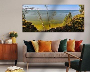 Haut lieu de la lagune du Großer Jasmunder Bodden près de Lietzow sur GH Foto & Artdesign