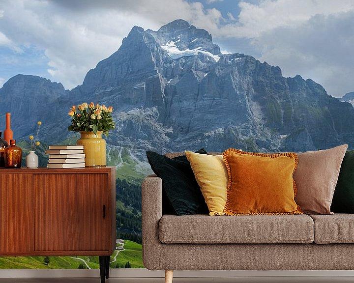 Sfeerimpressie behang: Bergkam Alpen van Nina Haverkamp