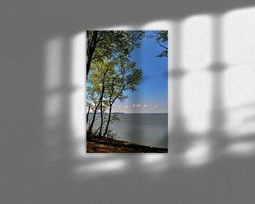 Sur la haute côte près de Lietzow, le grand Jasmund Bodden sur GH Foto & Artdesign