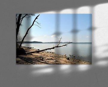 Naturstrand, Lagune in Lietzow, Großer Jasmunder Bodden, Rügen von GH Foto & Artdesign