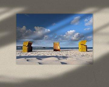 3 gelbe Strandkörbe in Binz von GH Foto & Artdesign
