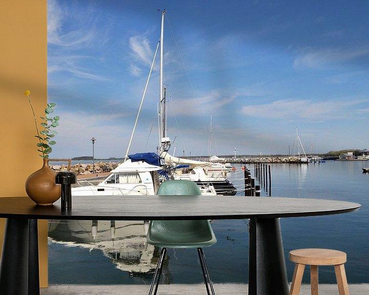 Beispiel fototapete: Marina Wiek, Yachthafen Wiek, Rügen von GH Foto & Artdesign