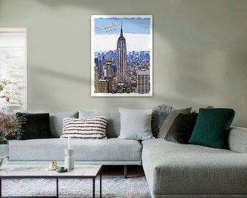 New Yorkse stad van Printed Artings