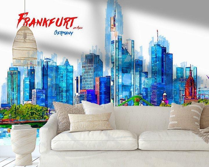 Beispiel fototapete: Frankfurt am Main von Printed Artings