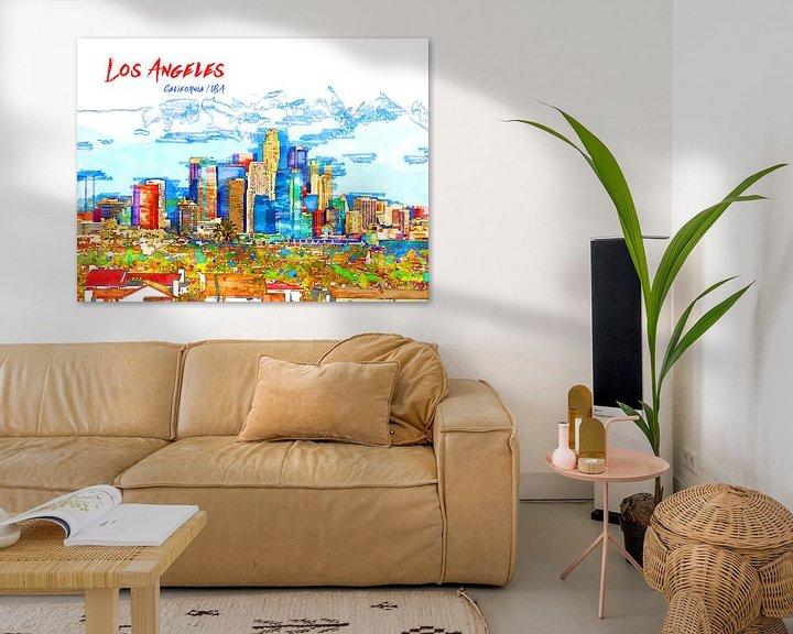 Beispiel: Los Angeles von Printed Artings