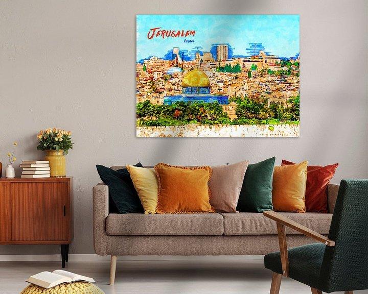 Beispiel: Jerusalem von Printed Artings
