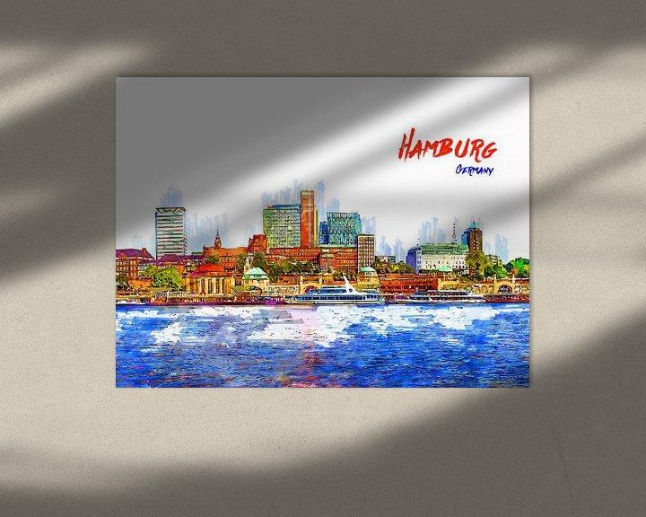 Beispiel: Hamburg von Printed Artings