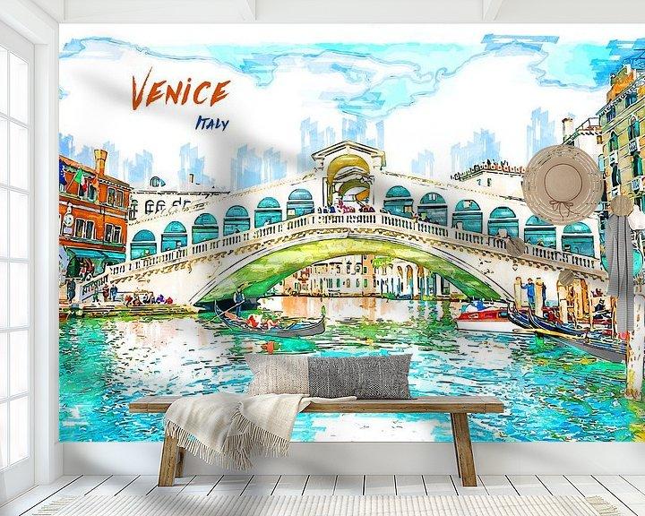 Beispiel fototapete: Venedig von Printed Artings