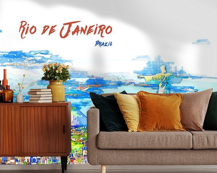 Beispiel fototapete: Rio de Janeiro von Printed Artings