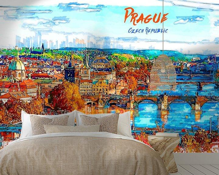 Beispiel fototapete: Prag von Printed Artings
