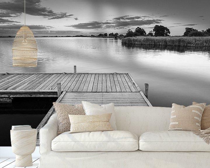 Sfeerimpressie behang: Een avond aan het Leekstermeer van Henk Meijer Photography