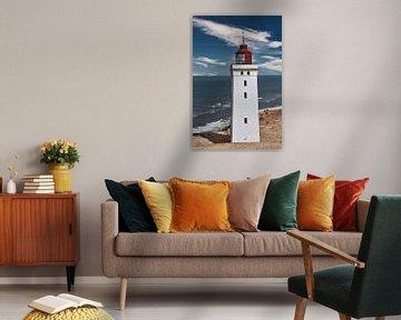 Un phare danois s'enfonce dans les dunes sur HGU Foto