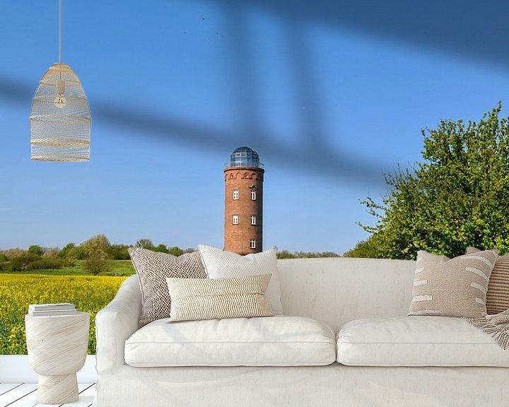 Beispiel fototapete: Peilturm am Kap Arkona, Rapsfeld von GH Foto & Artdesign