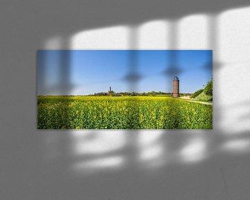 Tour Schinkel, nouveau phare &amp ; Peilturm, Cap Arkona, champ de colza sur GH Foto & Artdesign