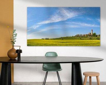 Schinkelturm & neuer Leuchtturm am Kap Arkona, Rapsfeld von GH Foto & Artdesign