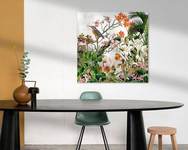 Beispiel: Der Eisvogel bei den Orchideen von christine b-b müller