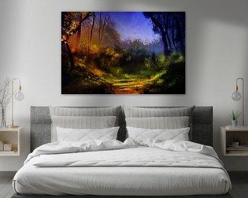 Magische plek in het bos