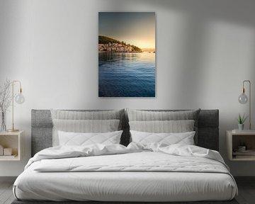 Moscenicka Draga Kroatië, stad aan zee bij zonsopgang van Fotos by Jan Wehnert