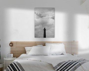 Dänischer Leuchtturm in schwarz und weiß von ellenklikt