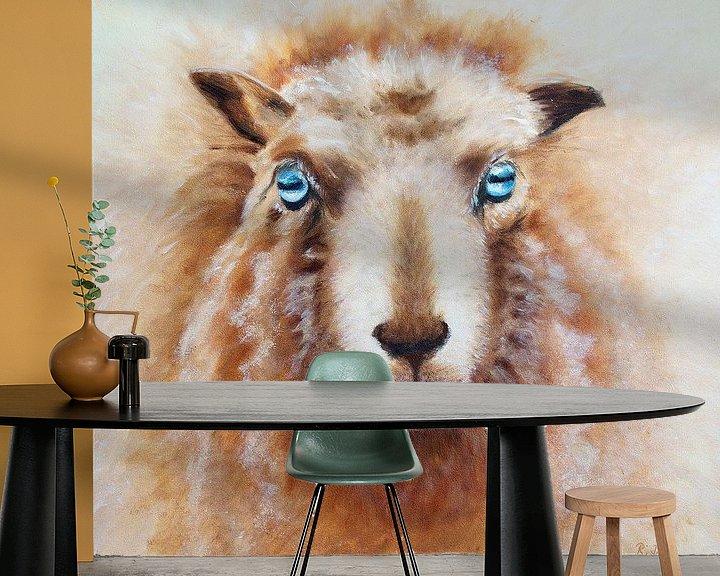 Beispiel fototapete: Schaf von Renate Dohr