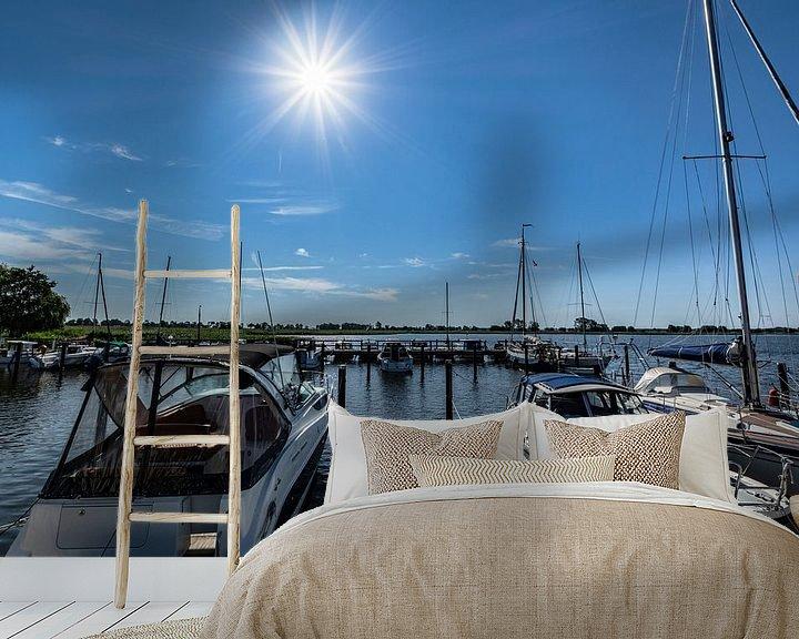 Beispiel fototapete: Segelurlaub - Hafen Puddemin auf Rügen von GH Foto & Artdesign