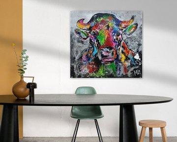 Kuh abstrakt von Kunstenares Mir Mirthe Kolkman van der Klip