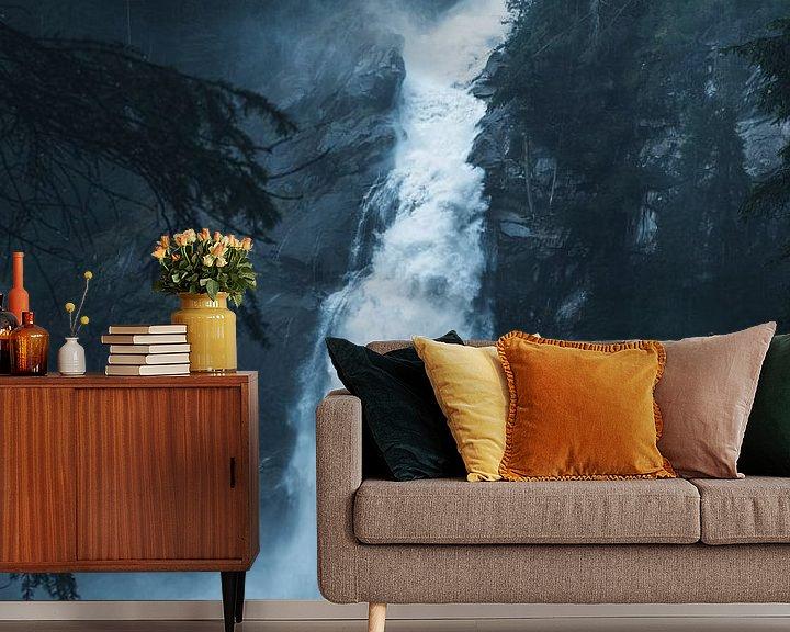 Sfeerimpressie behang: Krimmler waterval van Dylan Shu