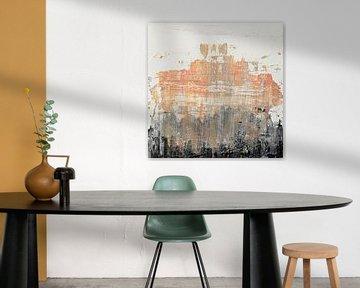 Abstract peach texture von Joske Kempink